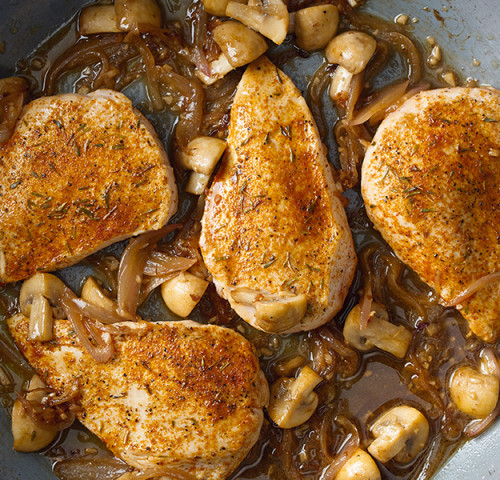 Olymel roast chicken breast, with mushrooms and shallots