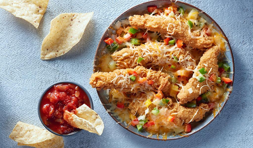 Lanières de poulet façon nachos