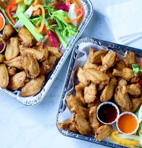 Chicken Wings, Split, Tipped (seasoned)
