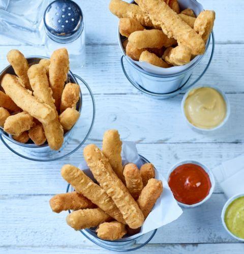 Breaded chicken fries (seasoned)