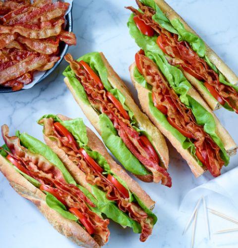 Bacon, partiellement cuit (18-22 tr/lb)