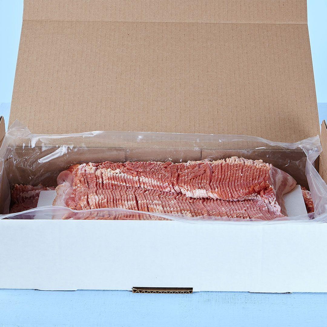 Bacon congelé tranché 17 tranches / 2'' (anciennement 14-16 tranches / Lb)