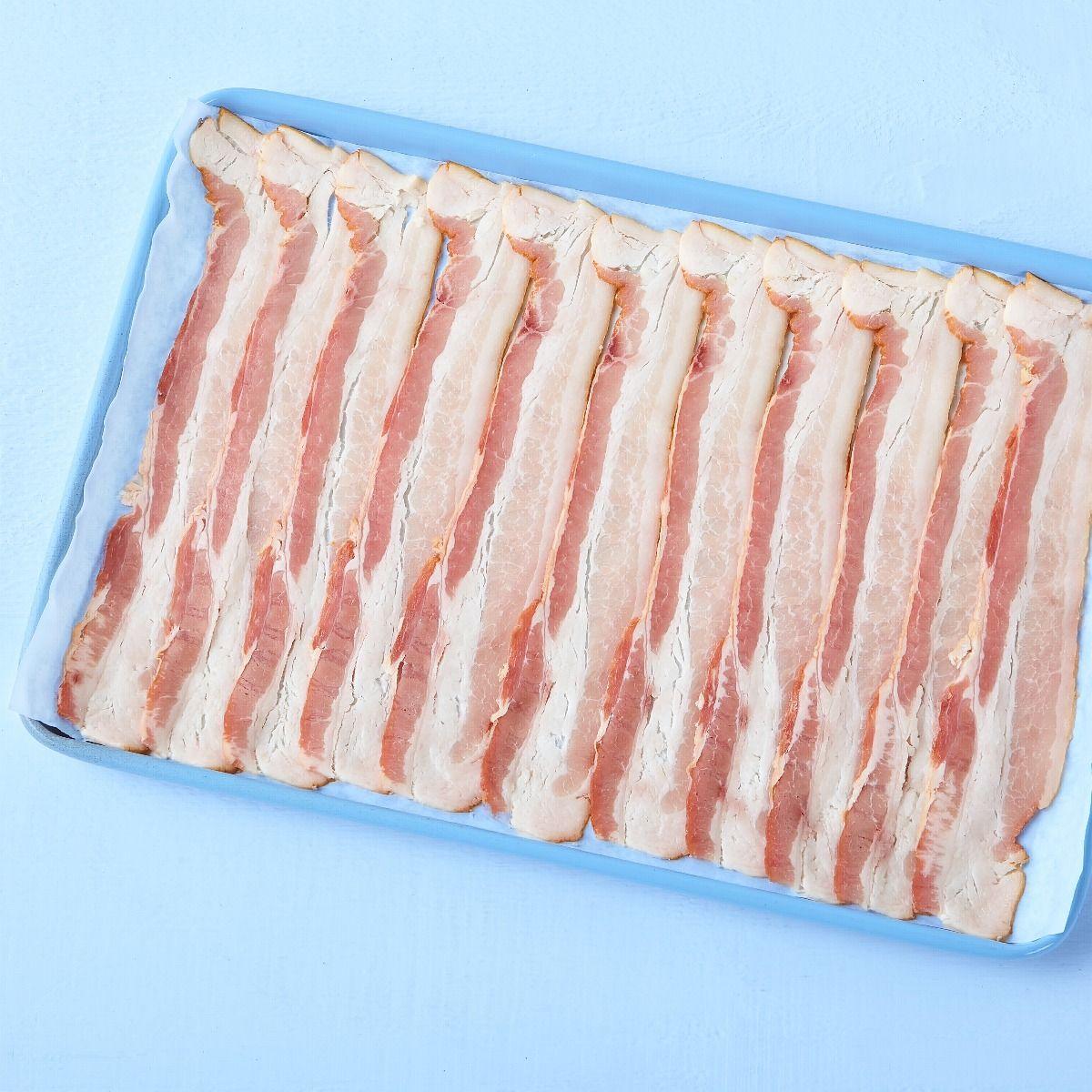 Bacon frais tranché étalé 20 tranches / 2'' (anciennement 16-18/Lb)