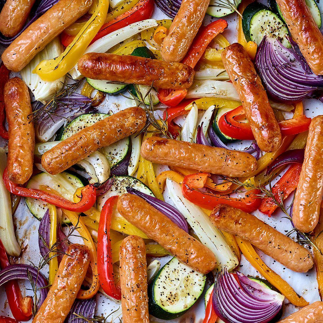 Saucisses porc et boeuf (boyau végétal)