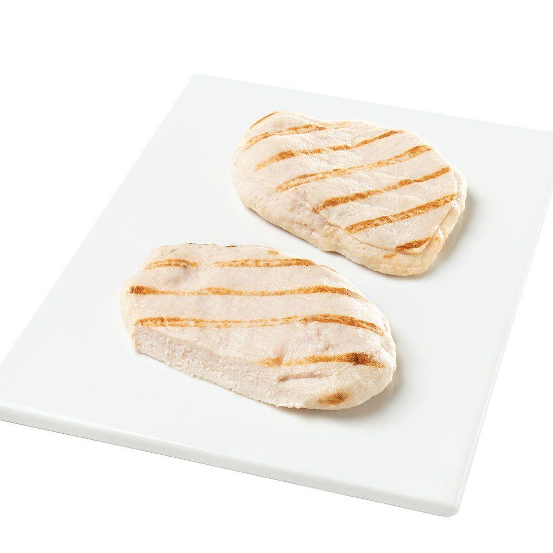 Poitrines de poulet, entièrement cuites (assaisonnées)