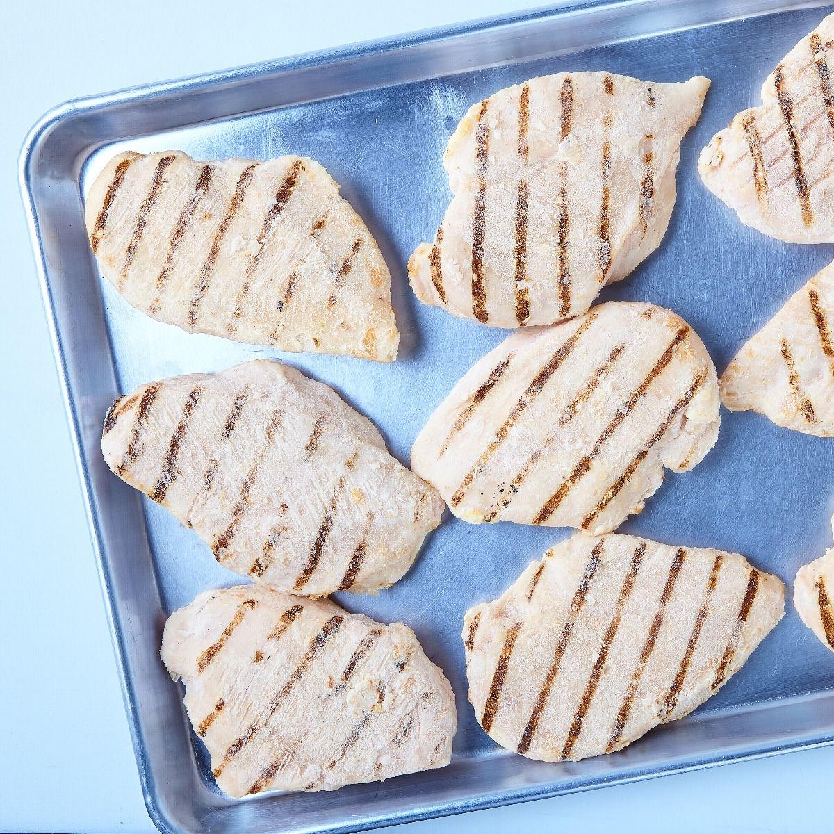 Boneless chicken breasts, fully cooked (seasoned)