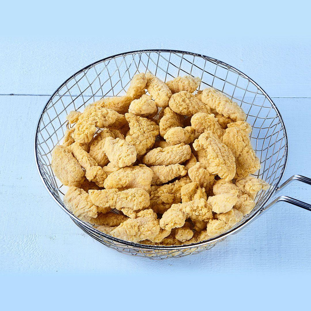 Croque-Tonnerre, mini-lanières de poitrine de poulet panées