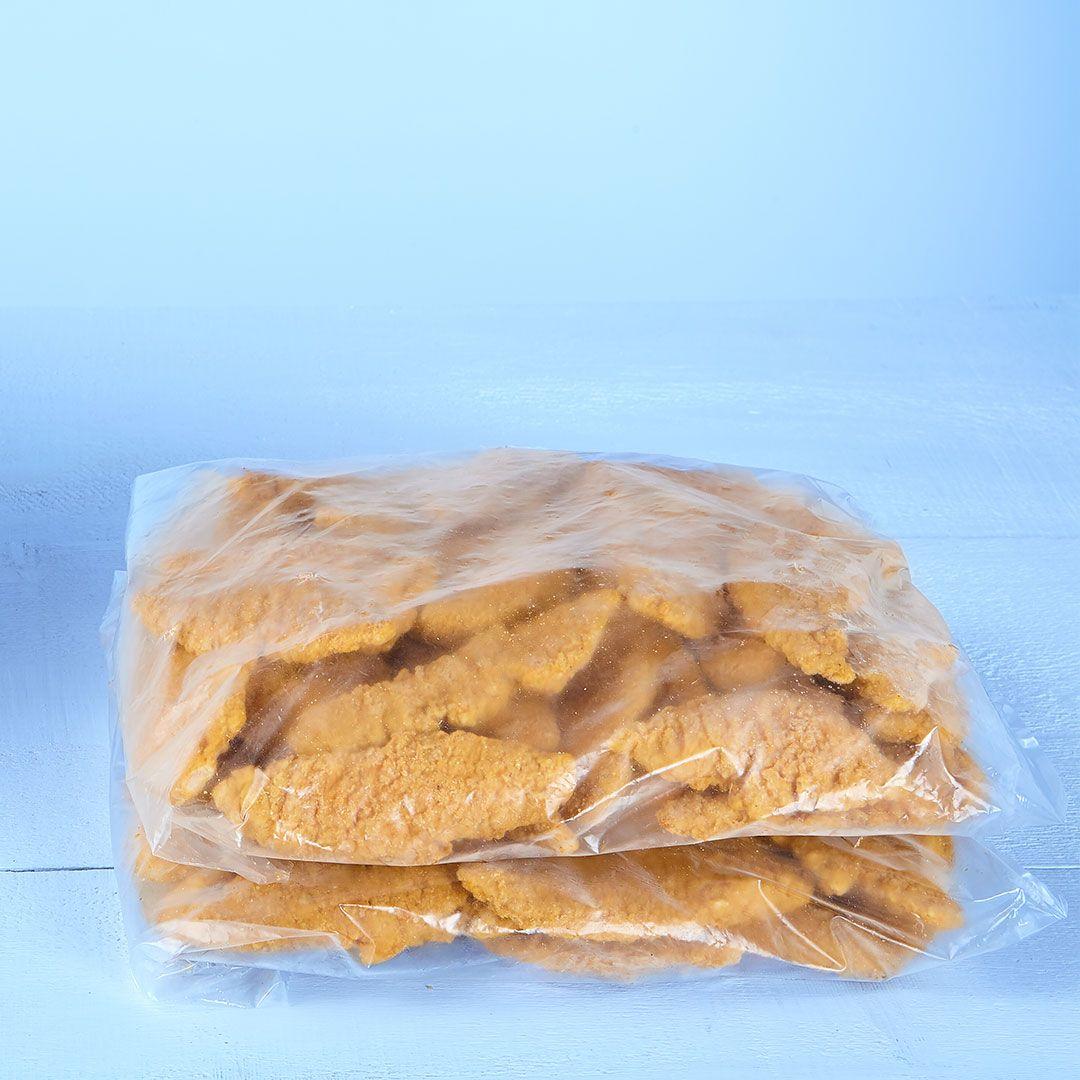 Filets de poulet panés et épicés (assaisonnés)