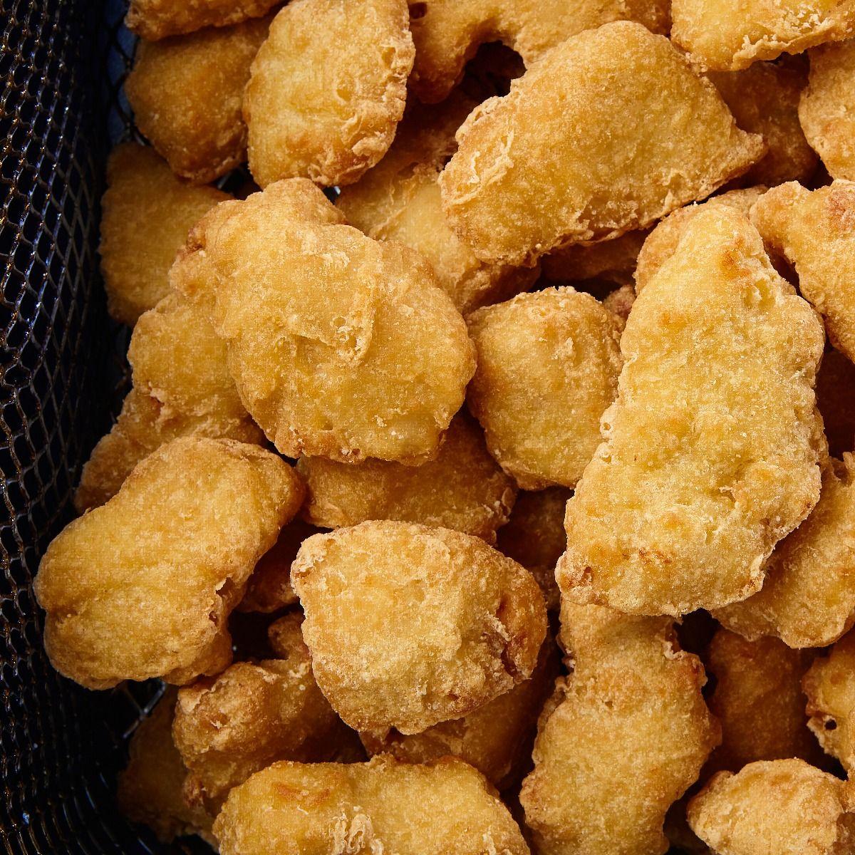 Morceaux de poitrine de poulet style tempura