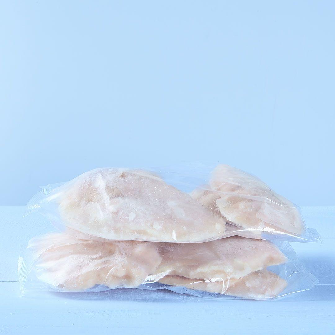 Poitrines de poulet désossées, sans peau (assaisonnées)