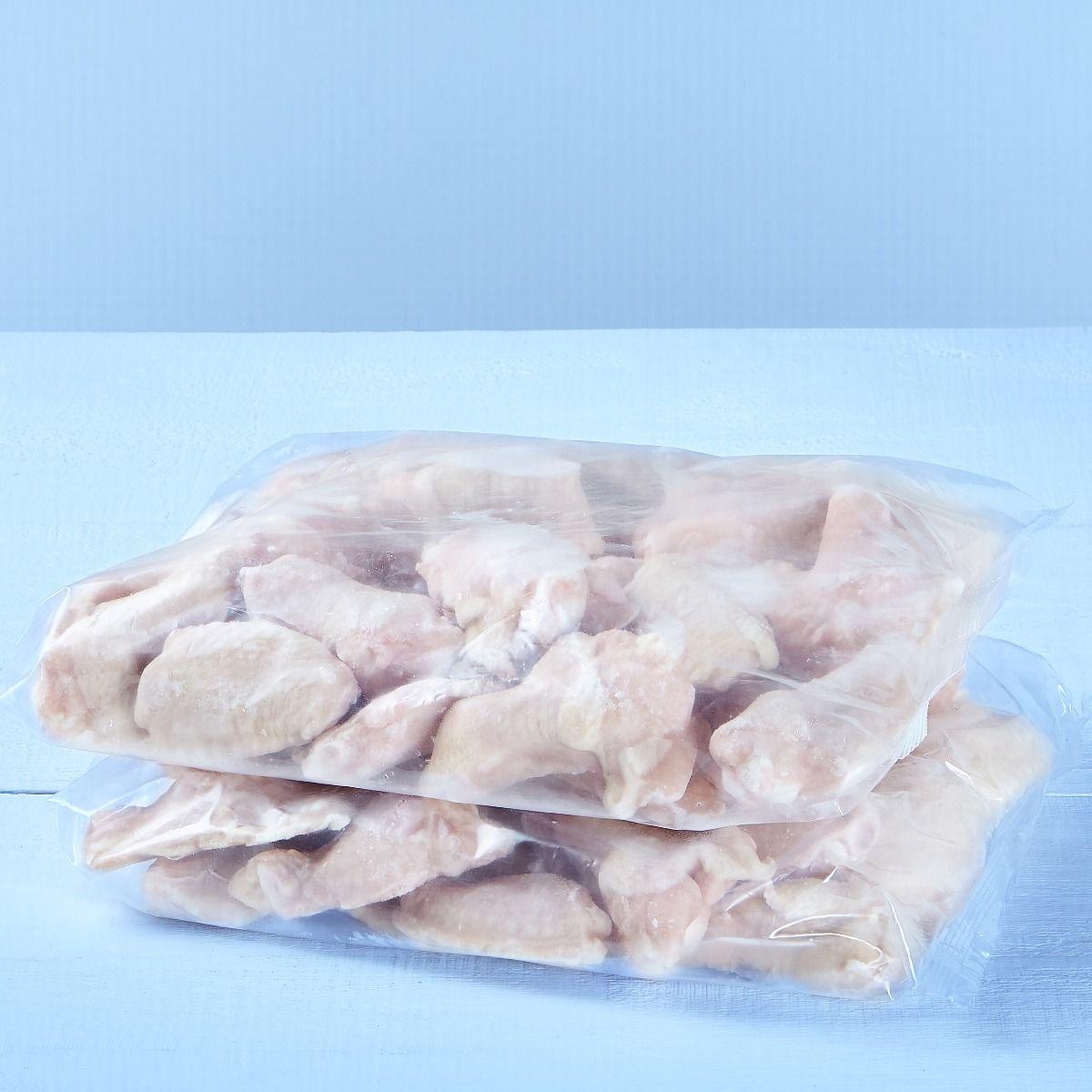 Ailes de poulet coupées (assaisonnées)