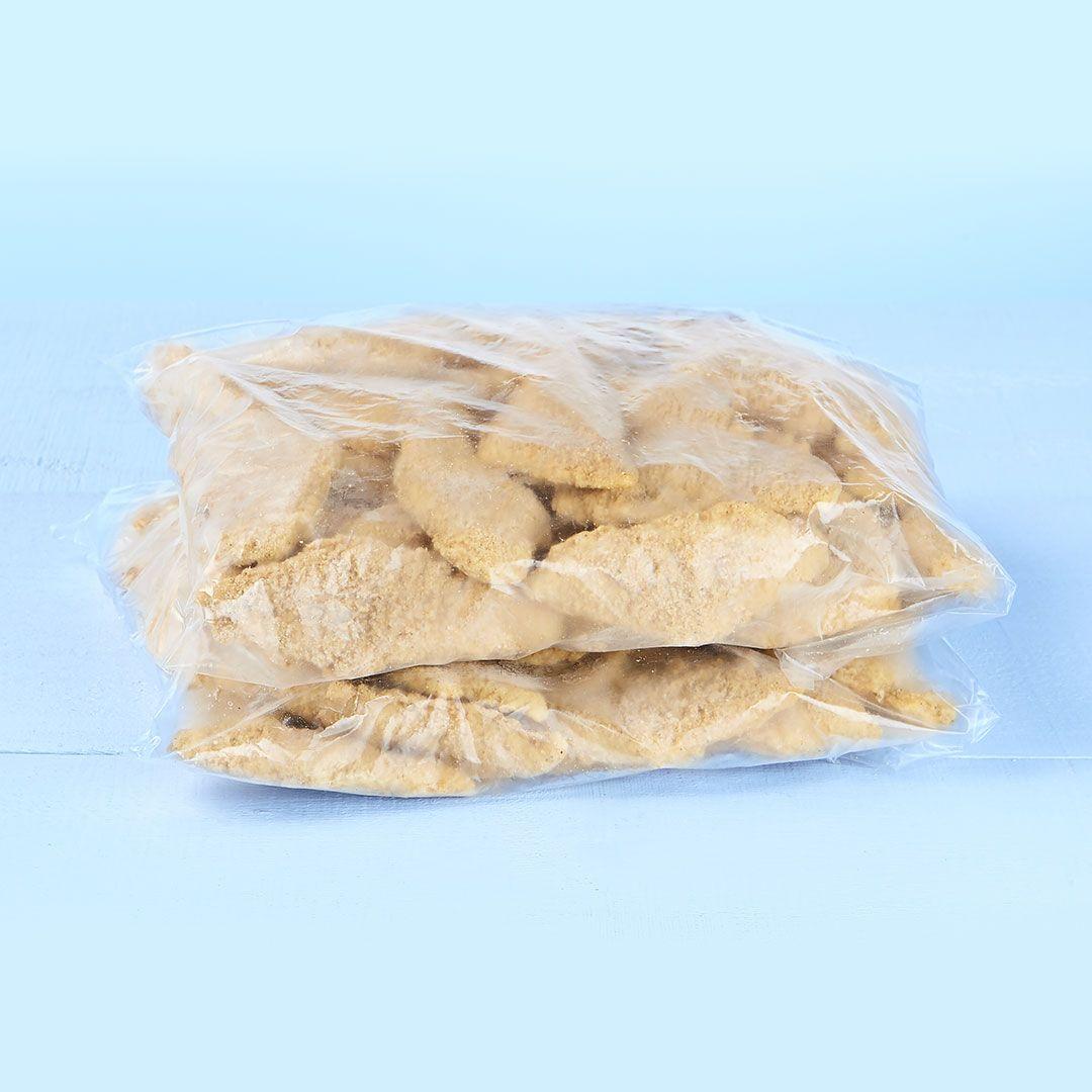 Filets de poitrine de poulet panés (assaisonnés)