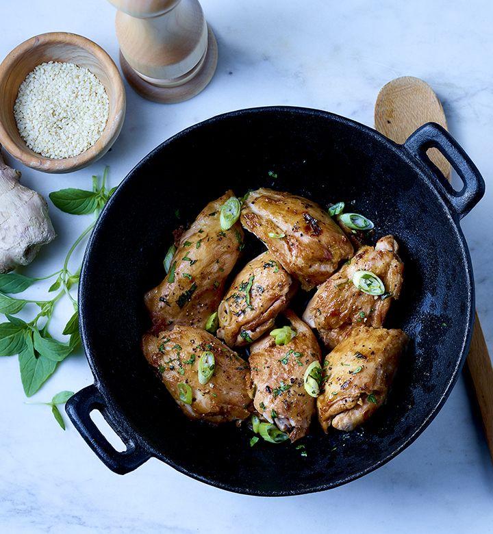 Hauts de cuisse de poulet désossés (assaisonnés, en vrac)