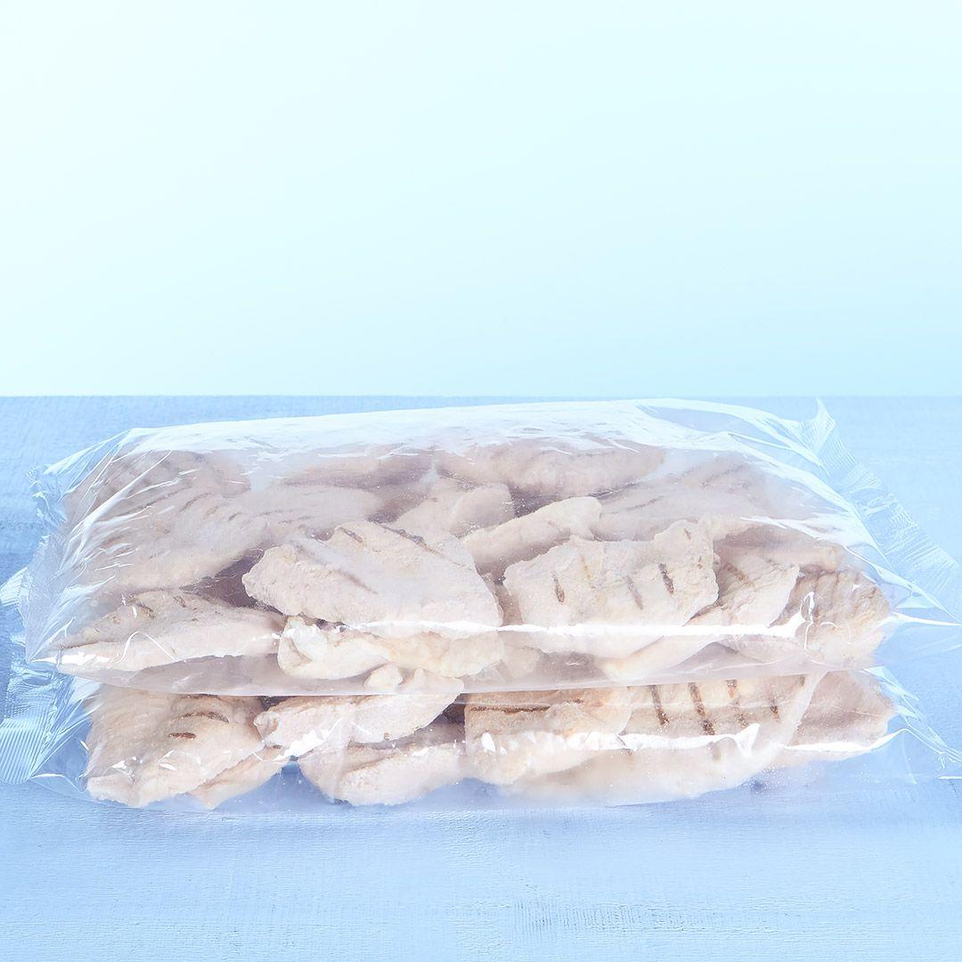 Grillades de poitrine de poulet, entièrement cuites (assaisonnées)