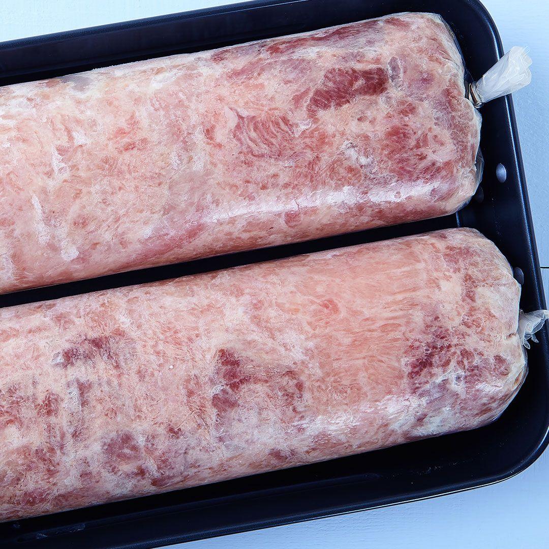 Rôti de dindon cru, désossé (viande blanche et brune) (assaisonné)
