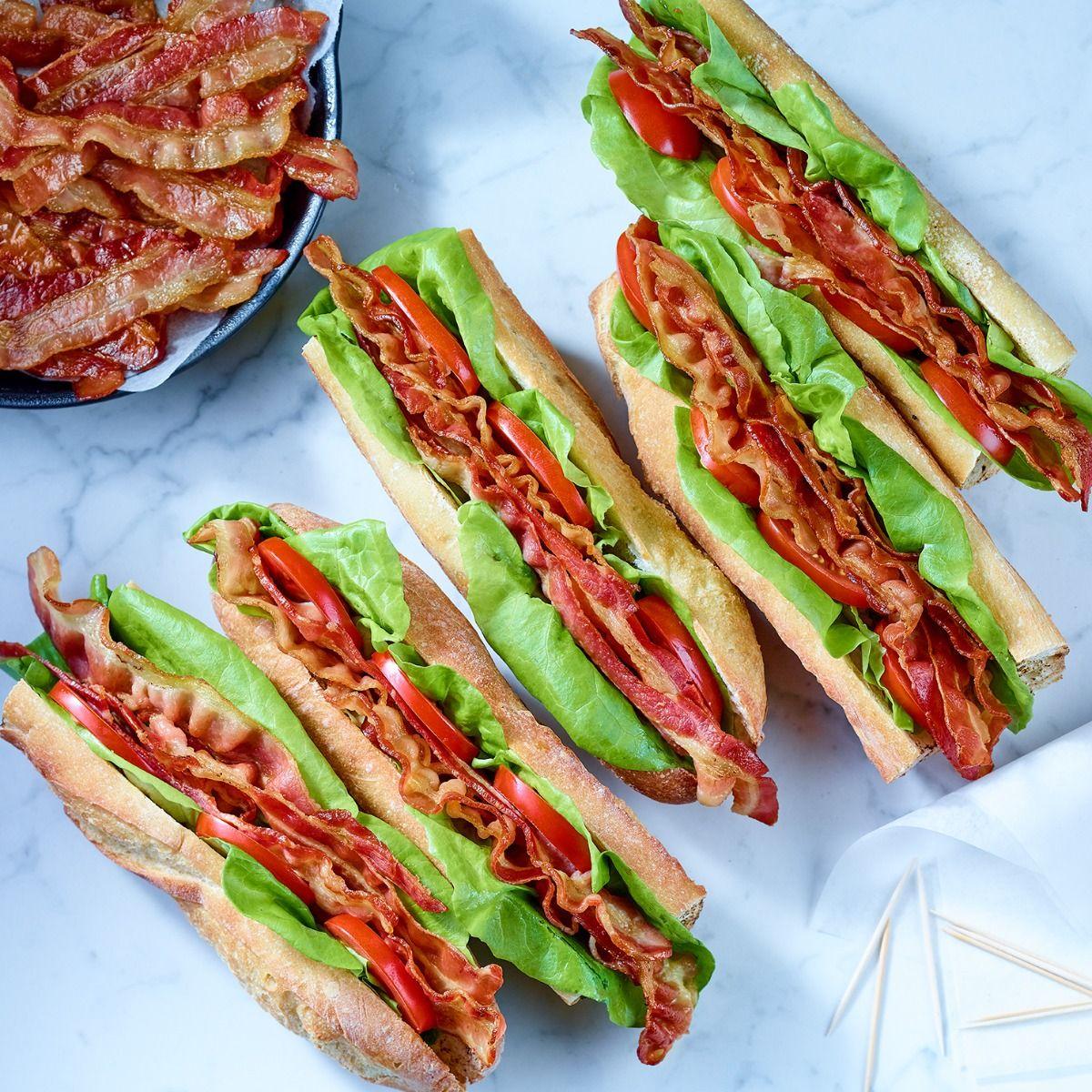 Partially cooked bacon (18-22 sl/lb)