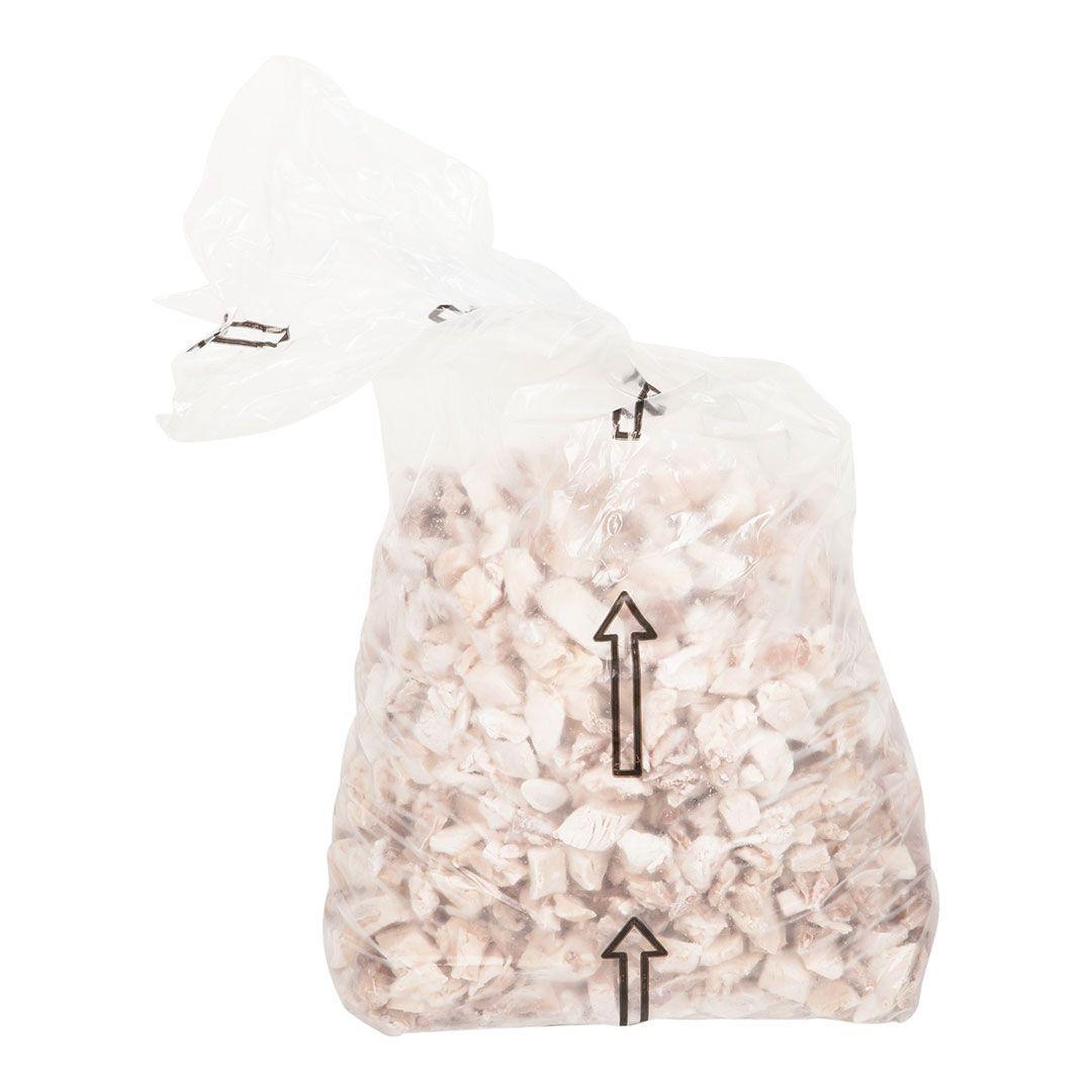 Cubes de poulet 3/4po, entièrement cuits (proportion naturelle)