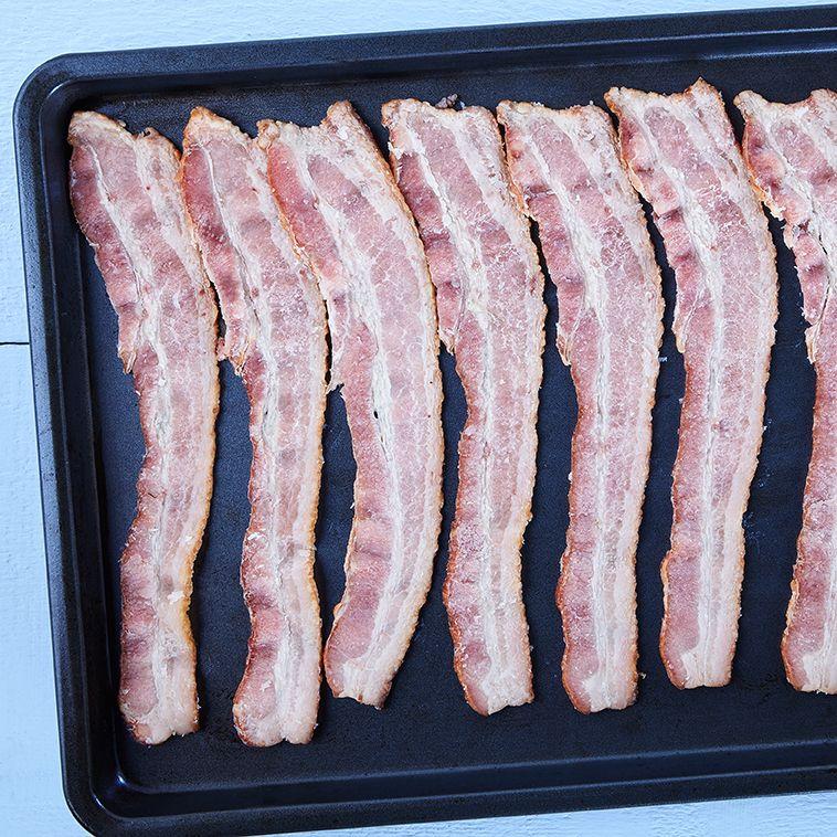 Double smoked bacon, partially cooked (10-12 sl/lb)