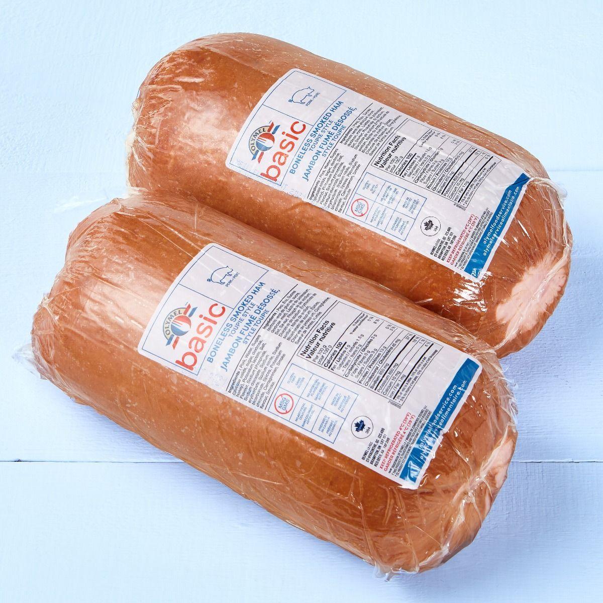 Toupie style boneless smoked ham