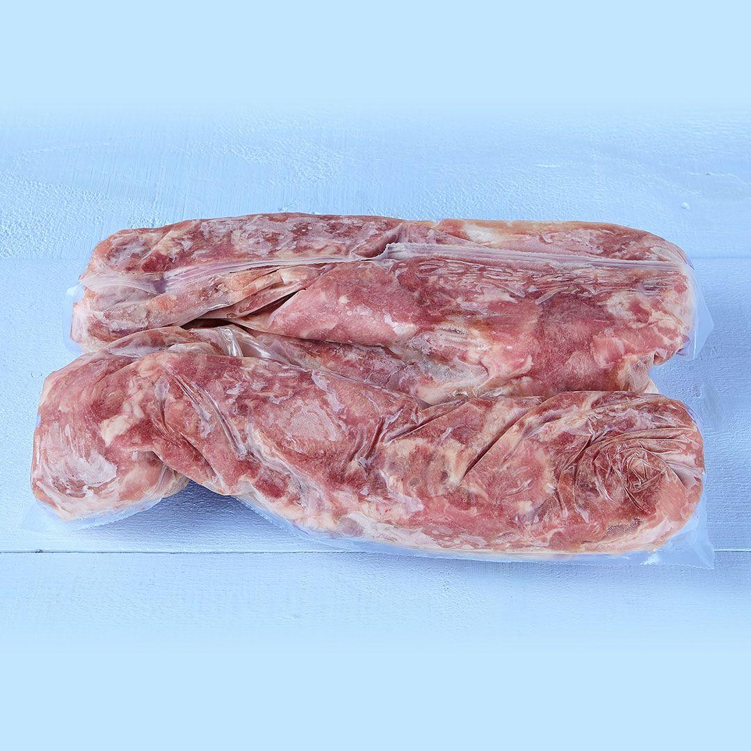 Seasoned pork back rib chunks