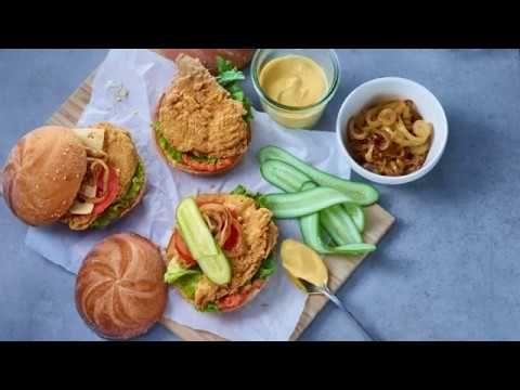 Thunder Crunch, breaded chicken breasts