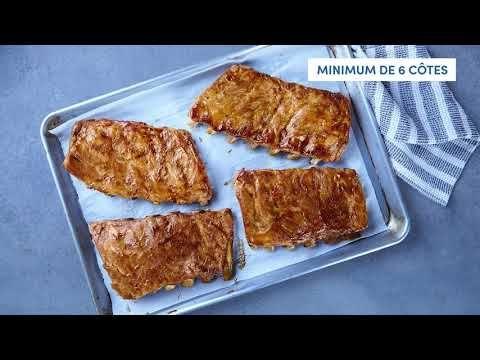 Côtes levées de flanc de porc style St-Louis, entièrement cuites
