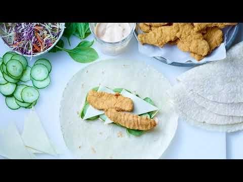 Doigts de poitrine de poulet panés (assaisonnés, préfrits)