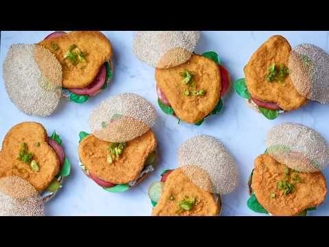Breaded chicken breast burgers (seasoned)