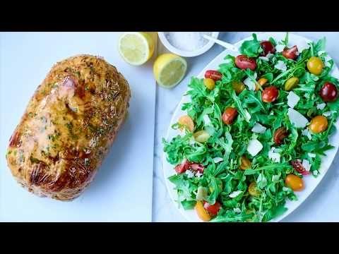 Boneless, skinless turkey breast and thigh meat roast (seasoned)