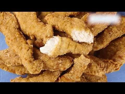 Lanières de poitrine de poulet panées, entièrement cuites (assaisonnées)