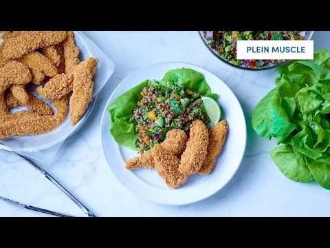 Lanières de poitrine de poulet panées (assaisonnées, sans gluten)