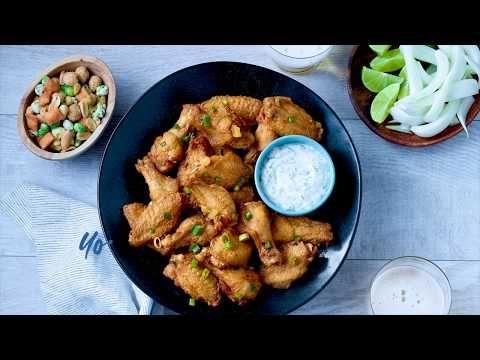 Hot & Spicy chicken wings, seasoned, raw