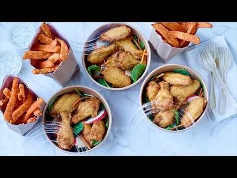 Ailes de poulet natures, larges, coupées, assaisonnées et entièrement cuites