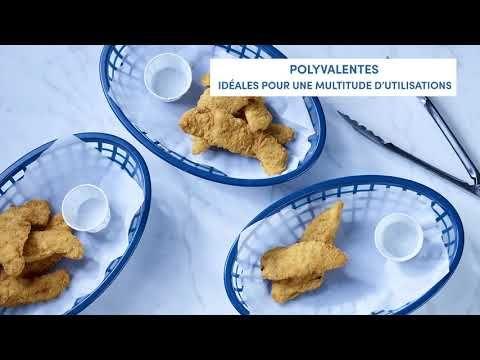 Lanières de poitrine de poulet panées non cuites (assaisonnées)