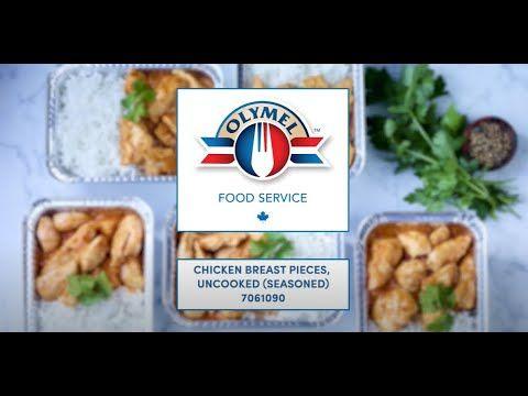 Marinated chicken breast pieces