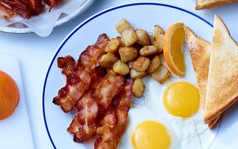 Five-star breakfast