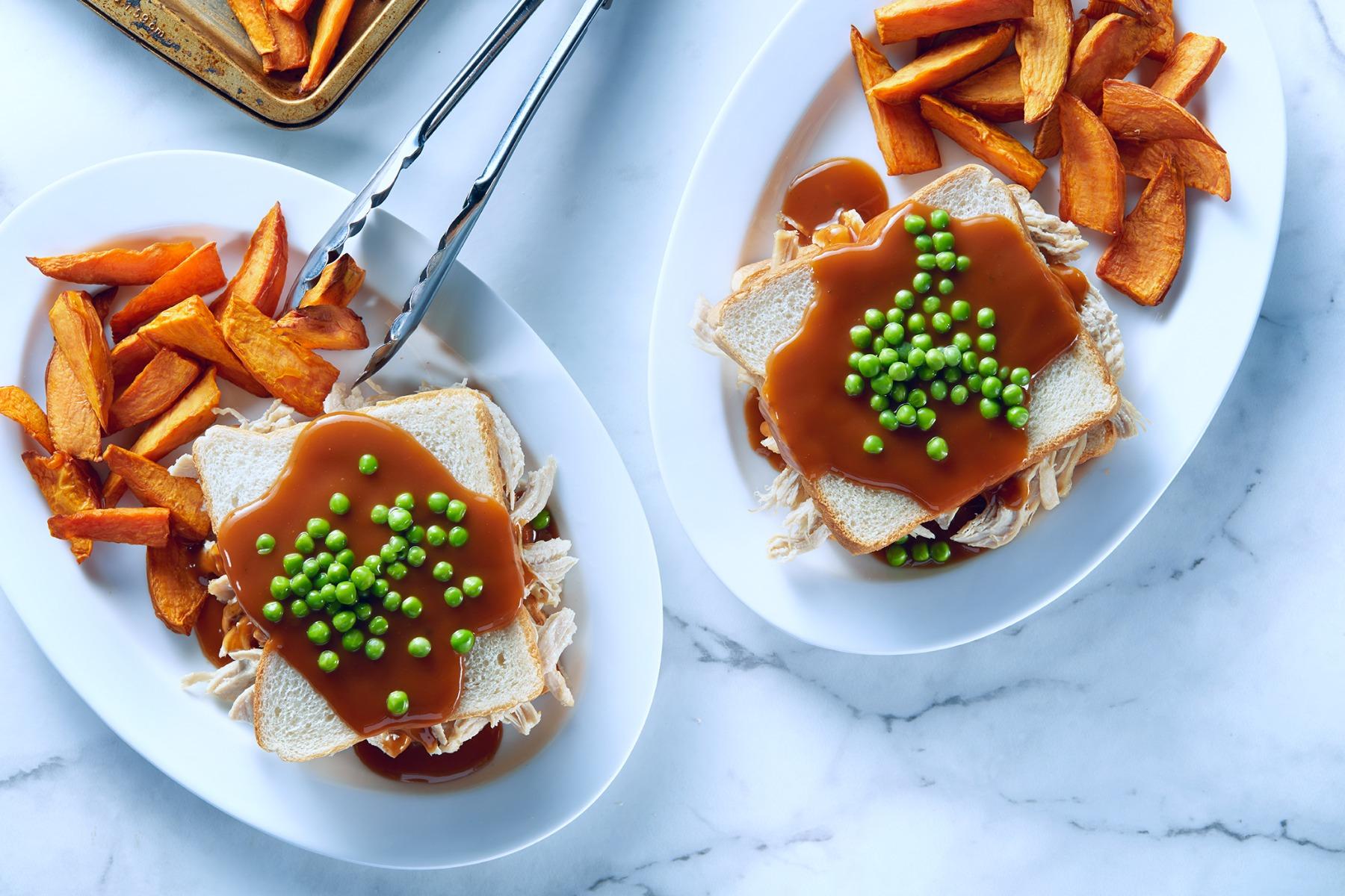 Hot turkey sandwich