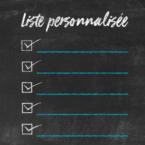 Liste personnalisée